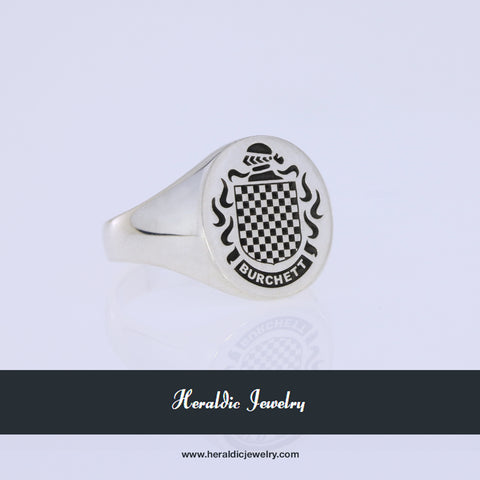 Burchett family crest ring