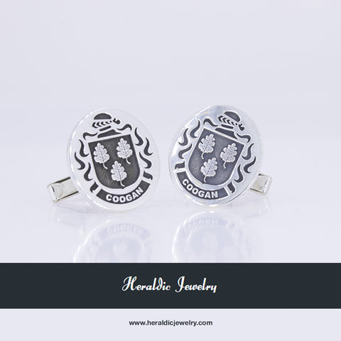 Coogan family crest cufflinks