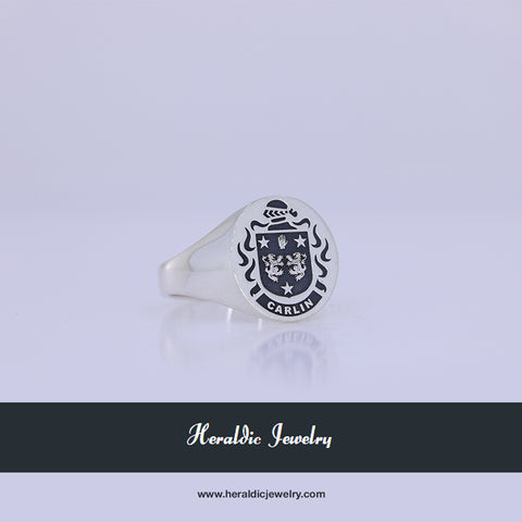 Carlin family crest ring