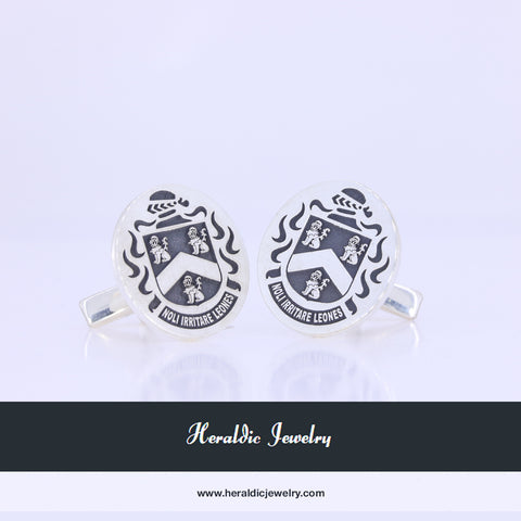 Lyon family crest cufflinks