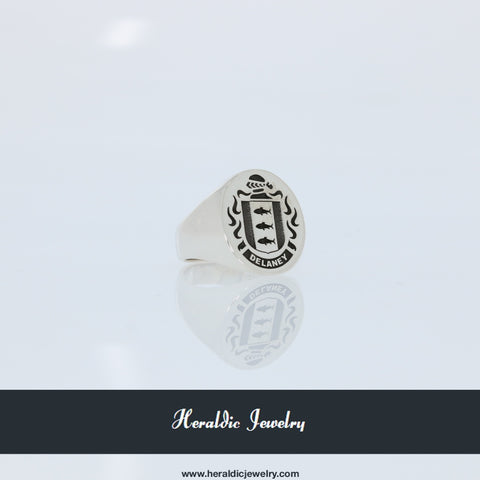 Delaney family crest ring