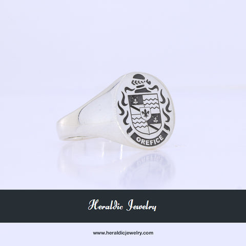 Orefice family crest ring