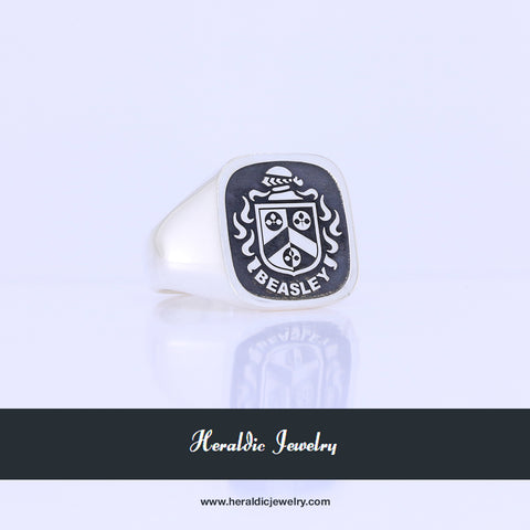 Beasley family crest ring
