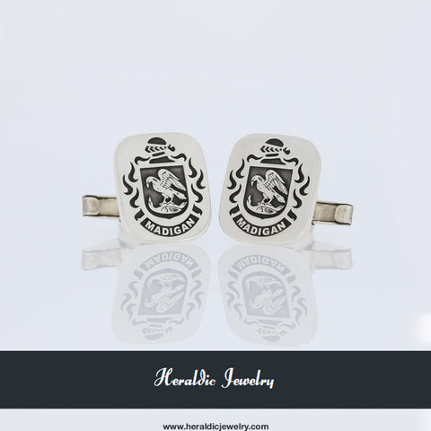 Madigan family crest cufflinks