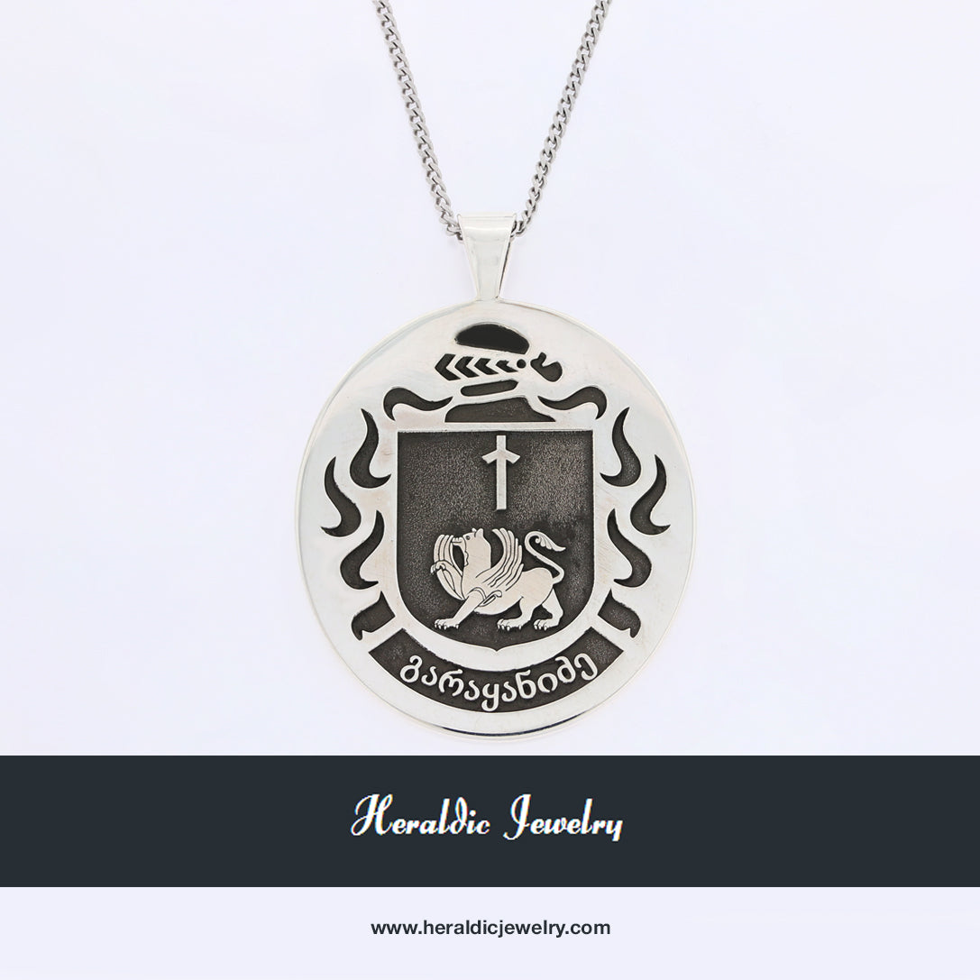 Georgia country crest necklace