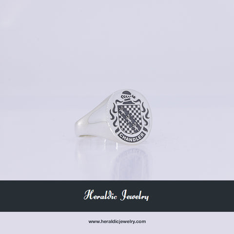 Chandler coat of arms ring