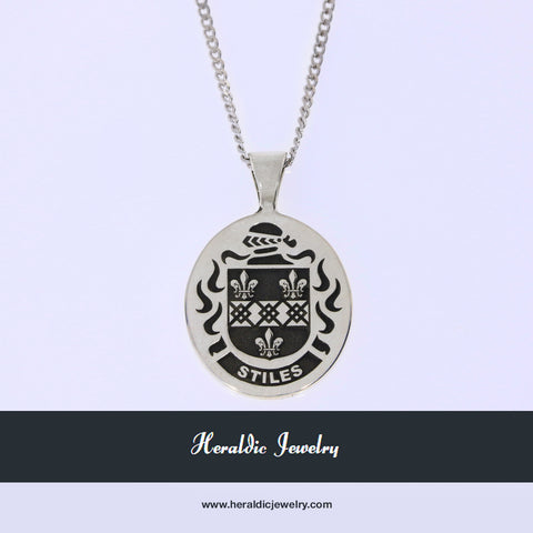 Stiles family crest necklace