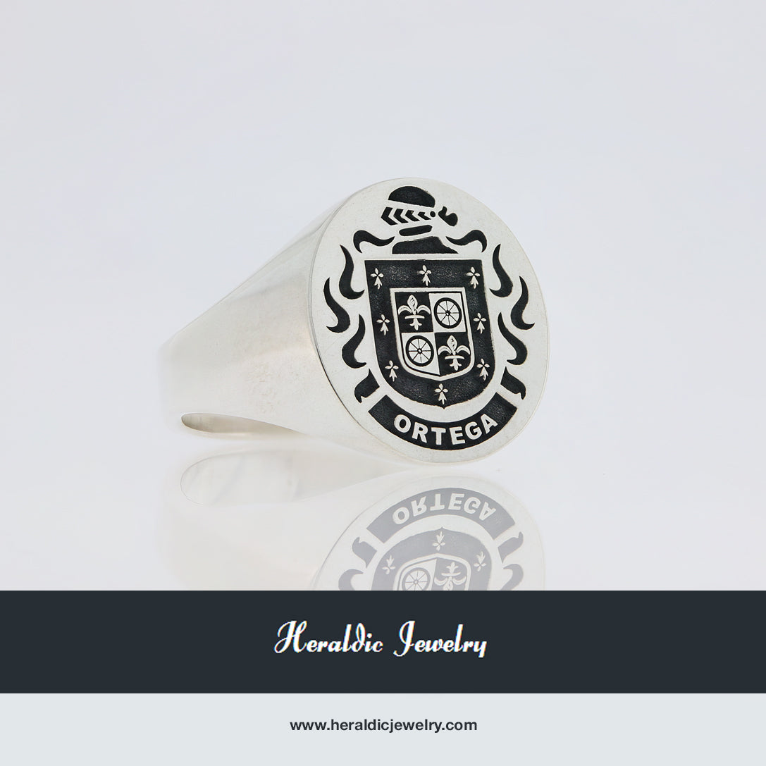 Ortega family crest ring