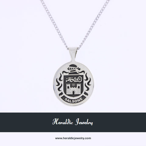 Salsone family crest necklace