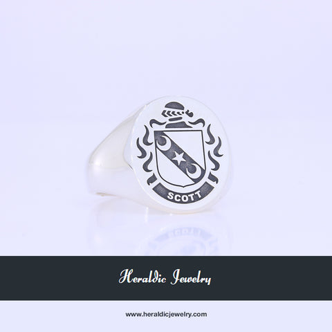 Scott family crest ring