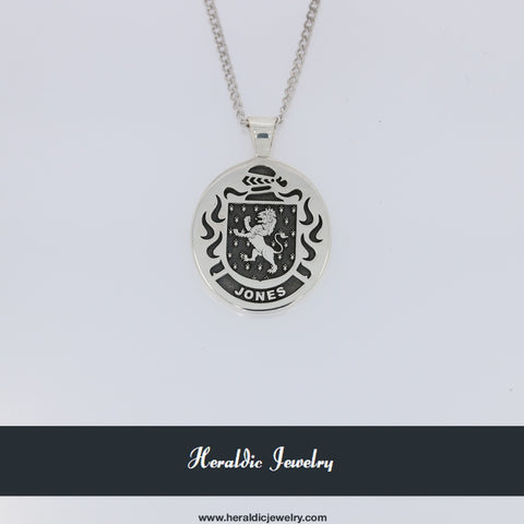 Jones family crest pendant