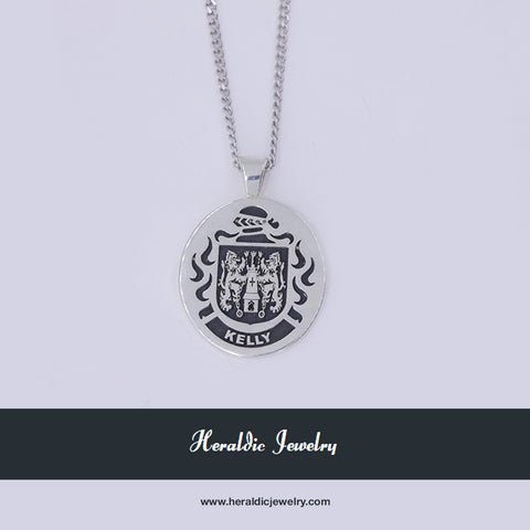 Kelly family crest pendant