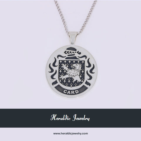 Card family crest pendant