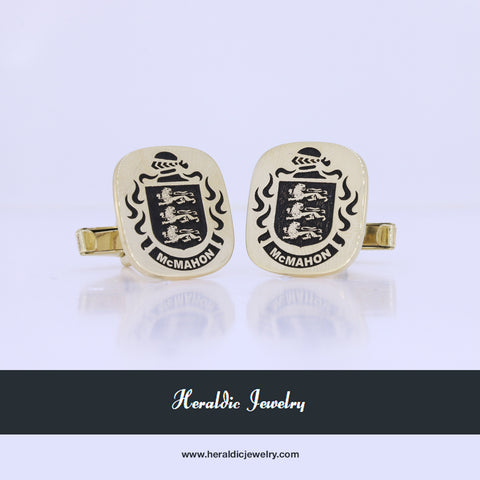 McMahon Gold family crest cufflinks
