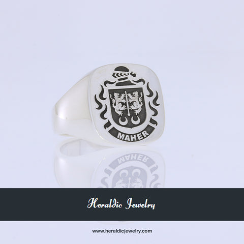 Maher family crest ring