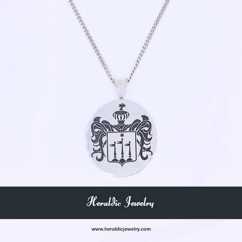 Custom family crest necklace