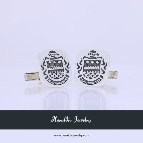 Huntingford family crest cufflinks