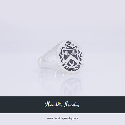 Frigault family crest ring