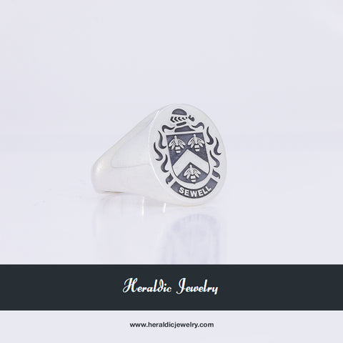 Sewell Family Crest ring
