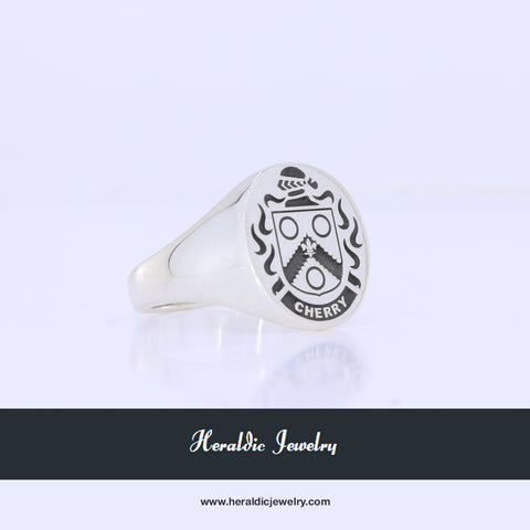 Cherry family crest ring