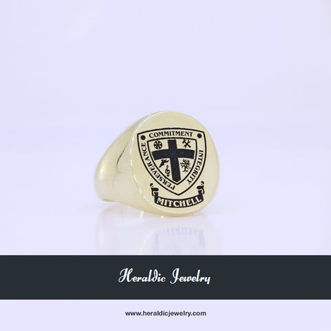 Mitchell custom crest ring