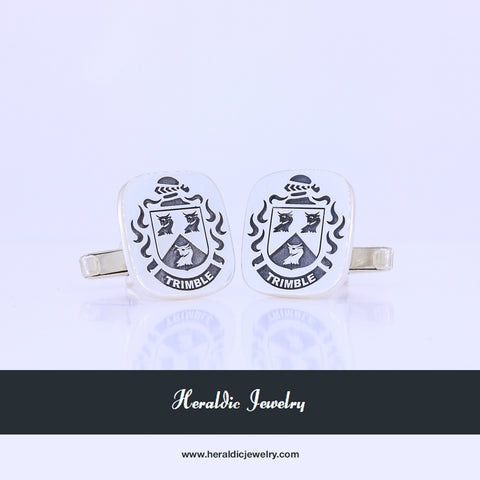 Trimble family crest cufflinks