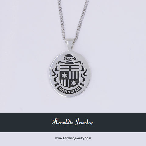 Ciminello family crest pendant