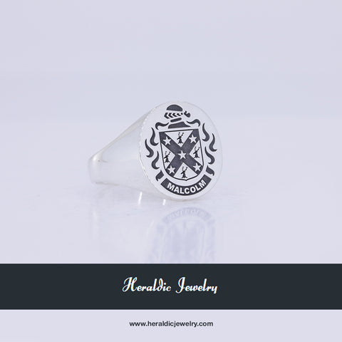 Malcolm family crest ring