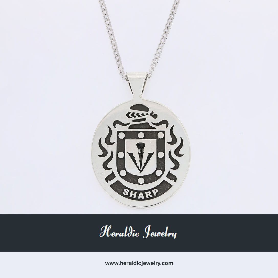 Sharp family crest pendant