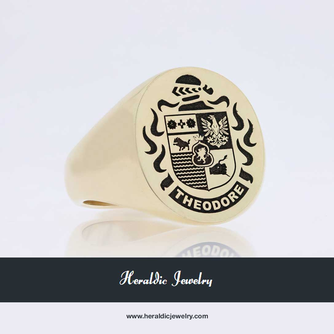 Theodore family crest ring