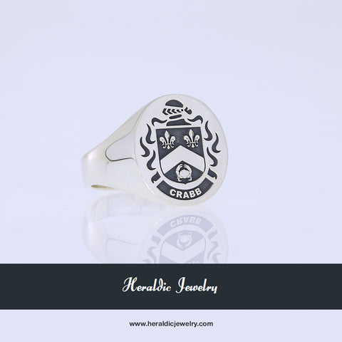 Crabbe family crest ring