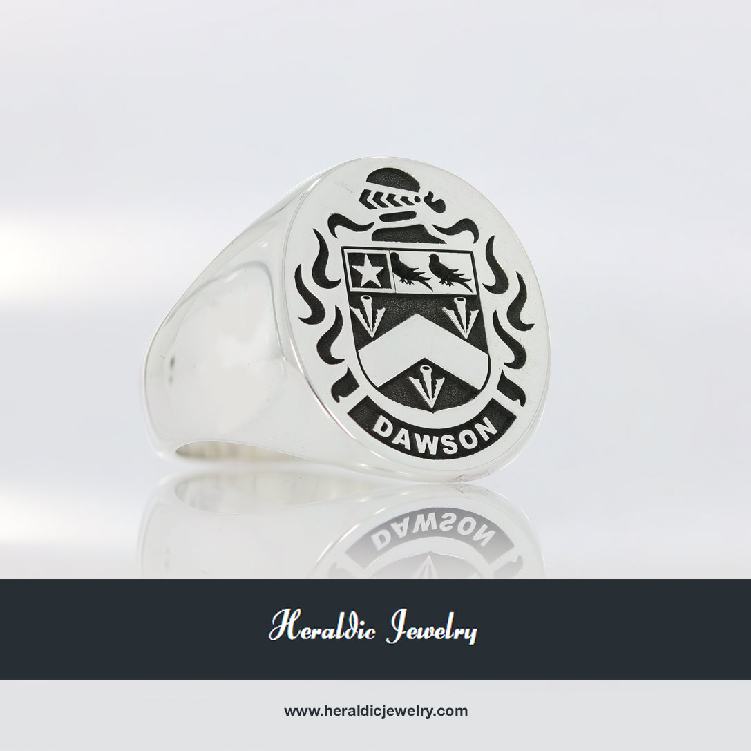 Dawson coat of arms ring