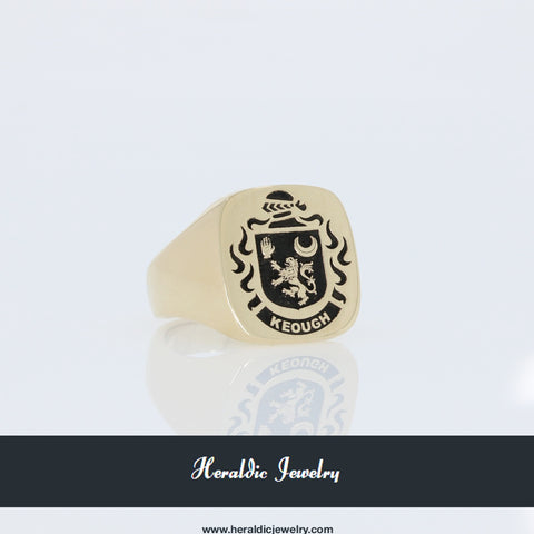 Keough family crest ring