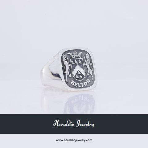 Belton family crest ring