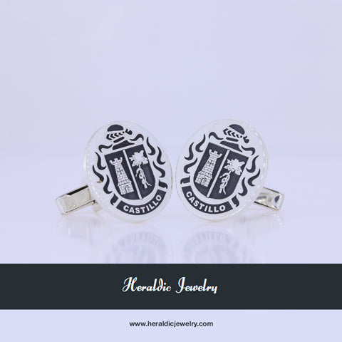 Castillo family crest cufflinks