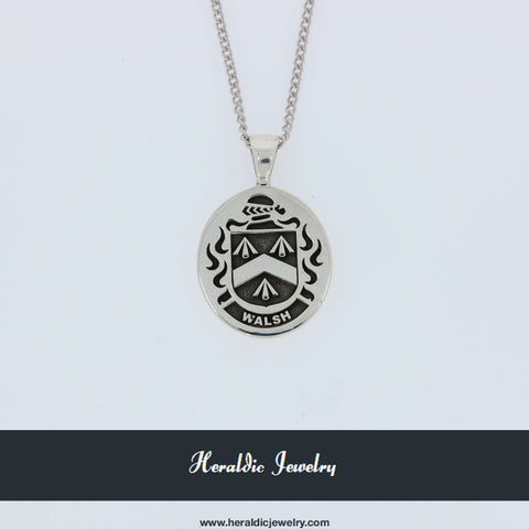 Walsh family crest pendant