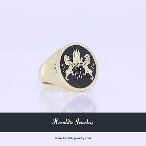 O'Reilly gold family crest ring