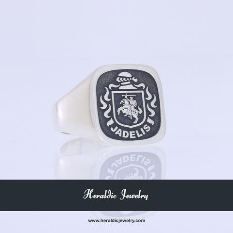Lithuania coat of arms ring