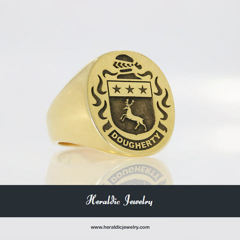 Dougherty family crest ring