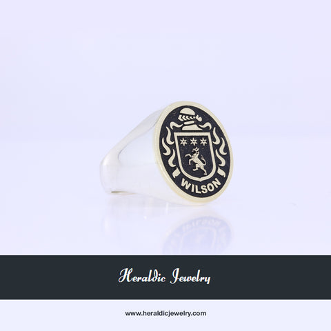 Wilson coat of arms ring