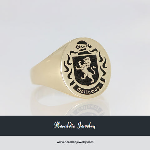 Gallaway family crest ring