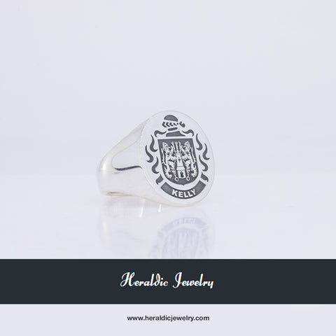 Kelly family crest ring