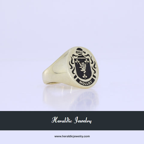Molloy family crest ring