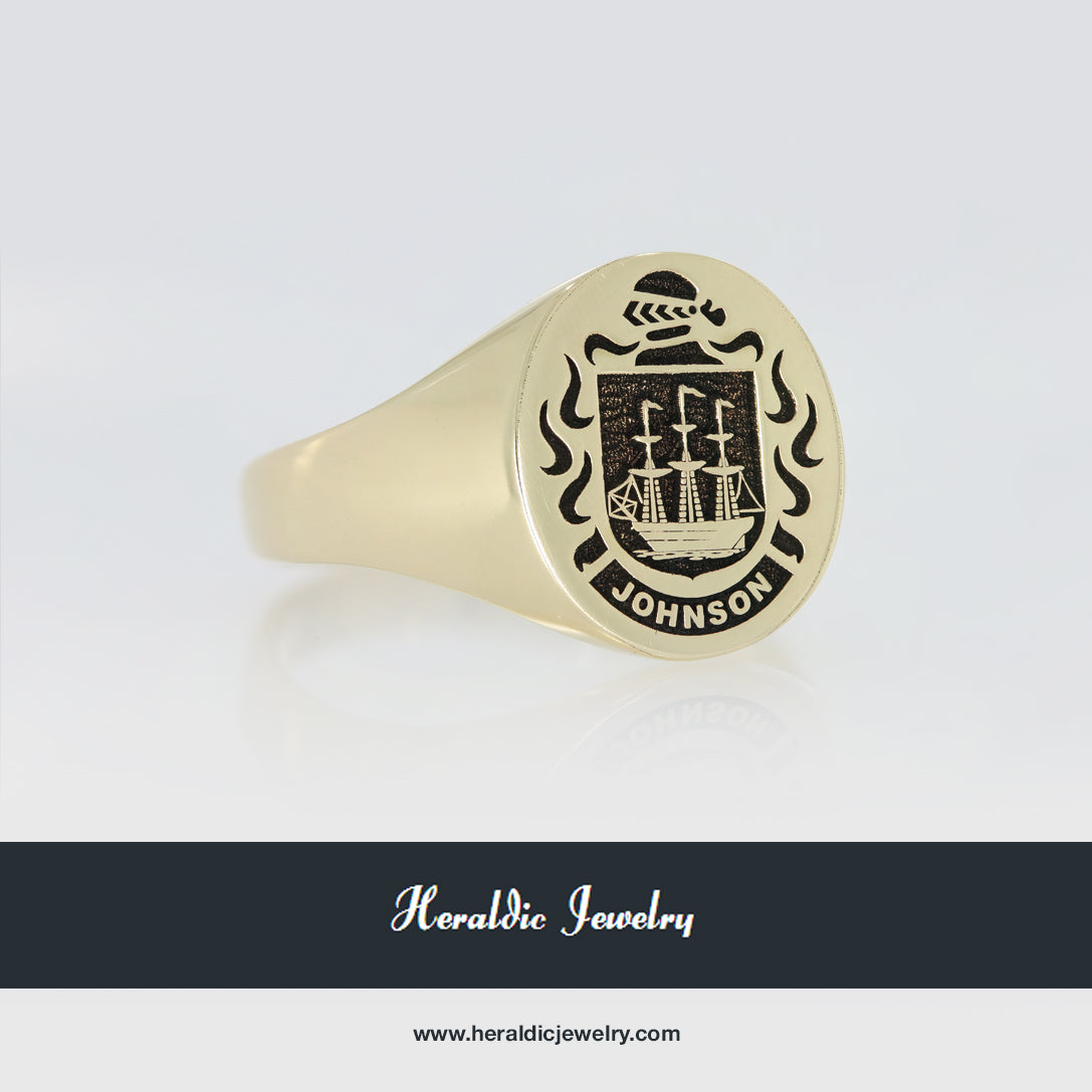 Johnson coat of arms ring