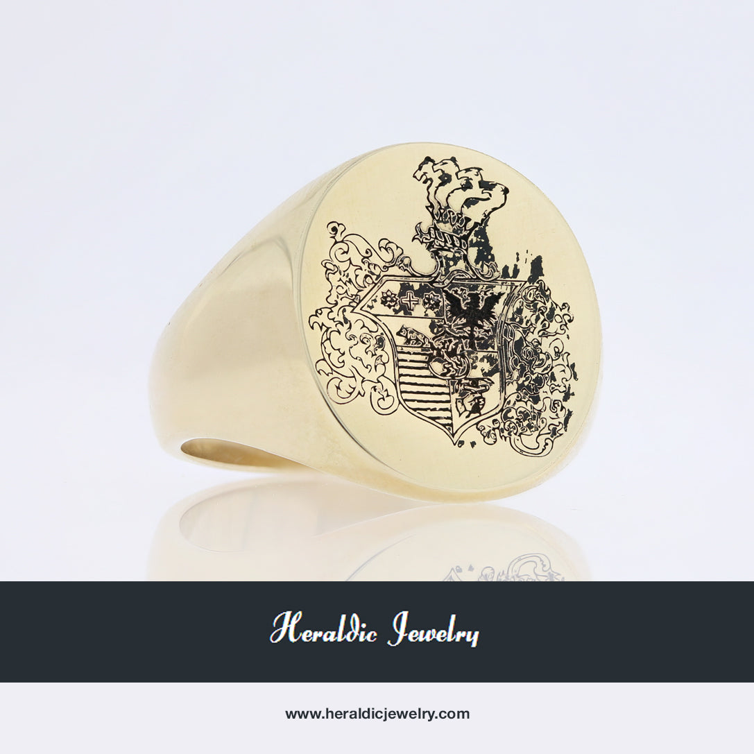 Theodore coat of arms ring