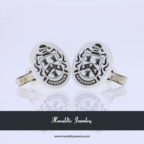 Anderson family crest cufflinks