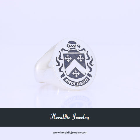 Anderson family crest ring