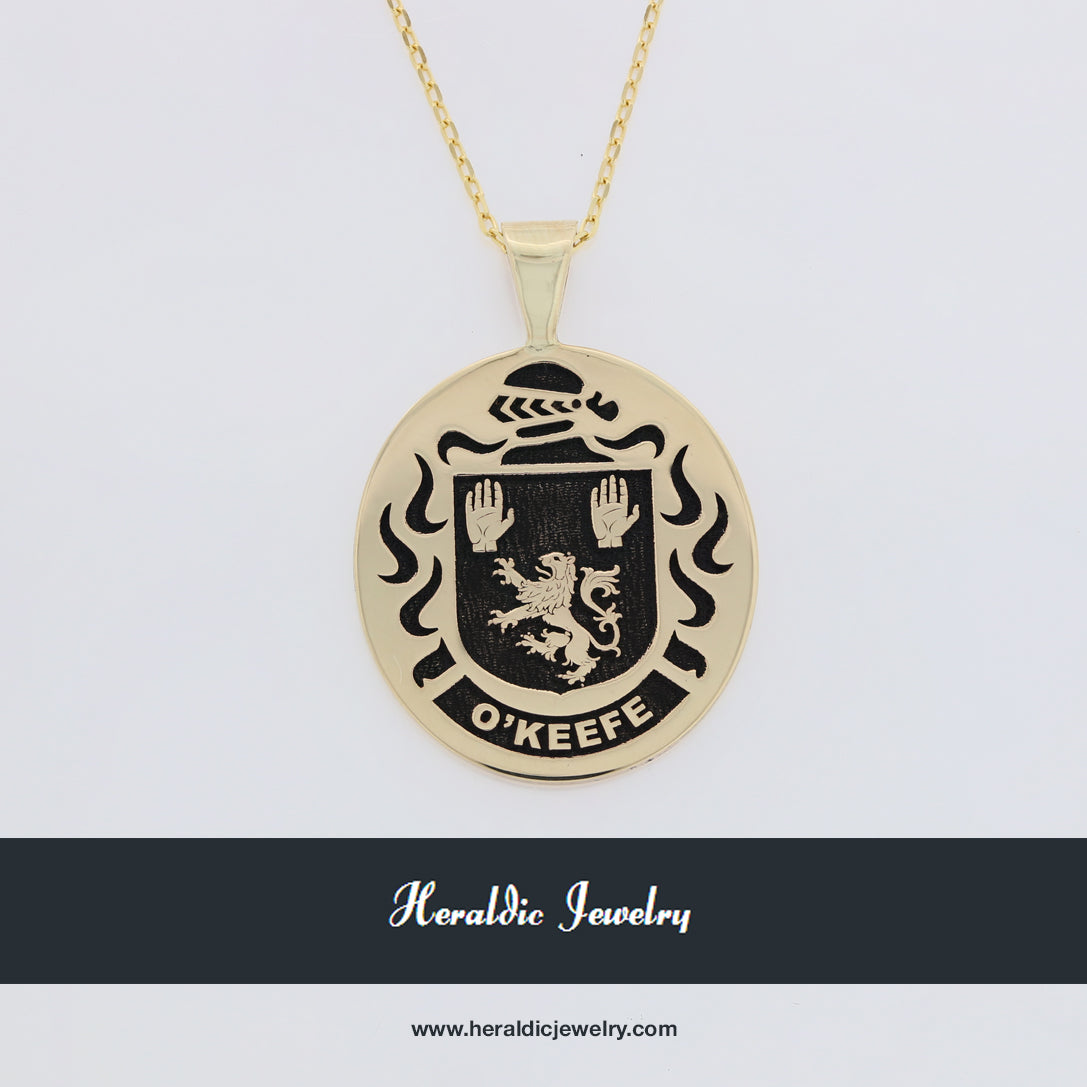 O'Keefe family crest pendant