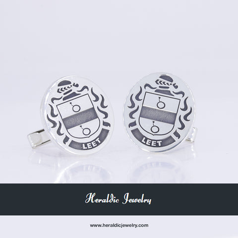 Leet family crest cufflinks