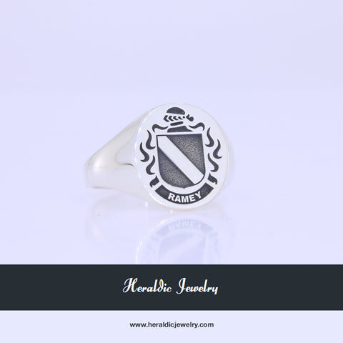 Ramey family crest ring